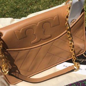 17db8991046597 New Tory Burch Aged Vachetta Alexa Shoulder Bag